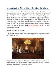 Astonishing Attractions To Visit In Jaipur.pdf