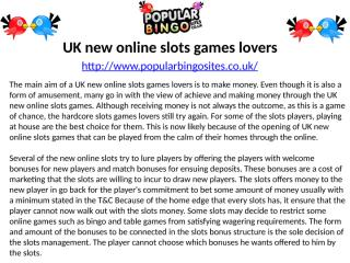 UK new online slots games lovers.pptx