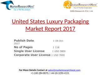 United States Luxury Packaging Market Report 2017.pptx