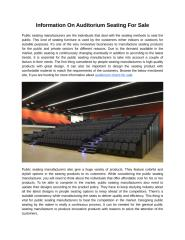 Information On Auditorium Seating For Sale.docx