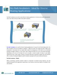 Dry Bath Incubators - Ideal for Diverse Heating Applications.pdf